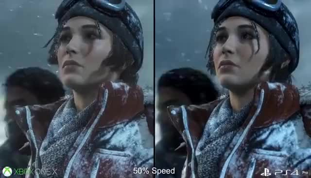 Watch and share [4K] Rise Of The Tomb Raider: Xbox One X Vs PS4 Pro First Look Graphics Comparison! GIFs on Gfycat
