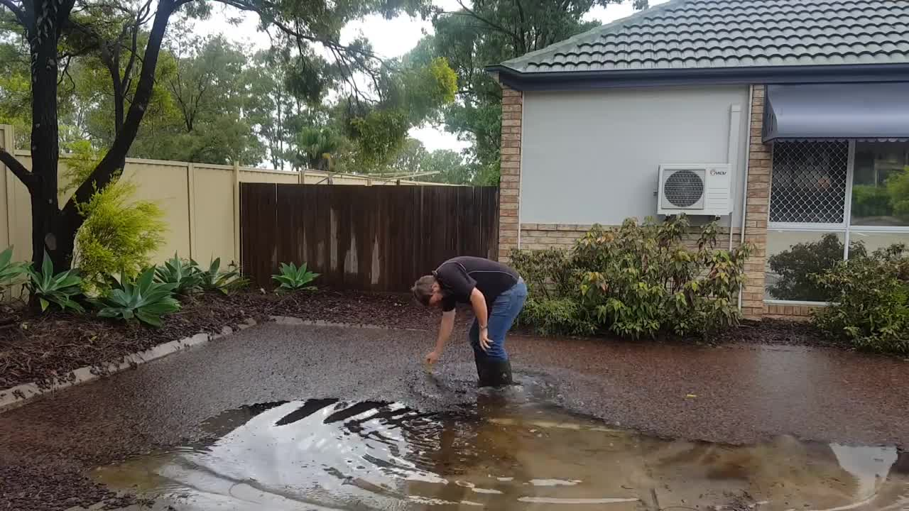 People & Blogs, australia, cool, drains, evergreentt, gold coast, plumbing, satisfaction, satisfying, straya, Plumber clearing a blocked grate after storm GIFs