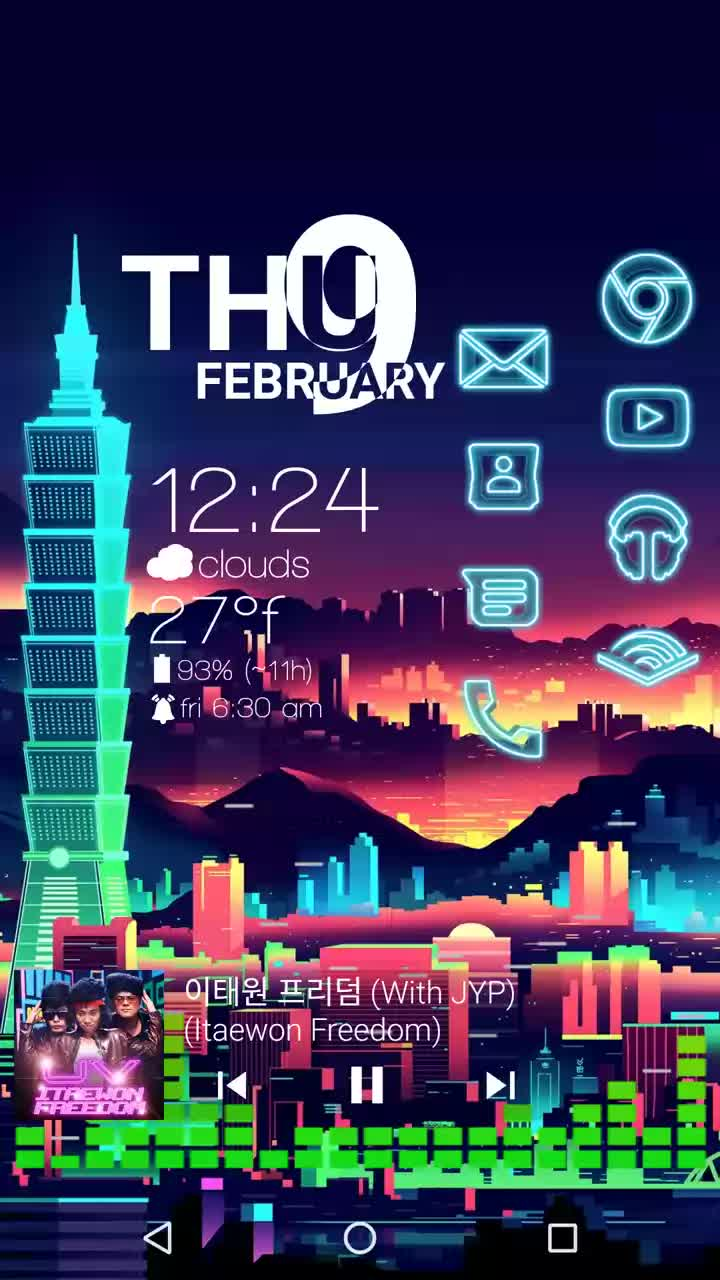 androidthemes, Neon Night GIFs