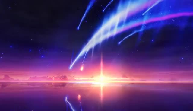 Watch and share Wallpaper Engine - Tiamat Comet (Kimi No Na Wa) (No Shake) GIFs on Gfycat