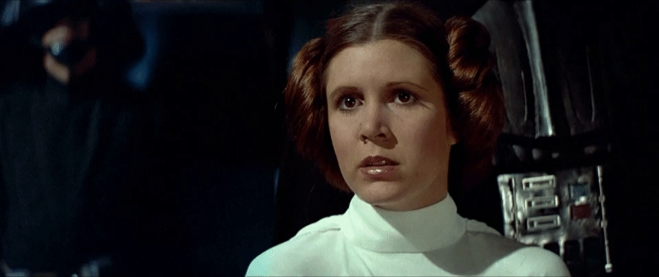 carrie fisher, Star wars thank GIFs