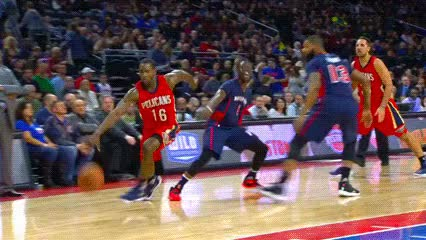 Watch Toney Douglas and Anthony Davis — New Orleans Pelicans GIF by off-hand on Gfycat. Discover more related GIFs on Gfycat