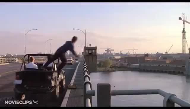 Watch and share Hawkins Hops Off A Bridge (1990) HD GIFs on Gfycat