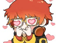 Watch and share Heart Eyes, Happy, Fan Girling, Hearts, Mystic Messenger animated stickers on Gfycat