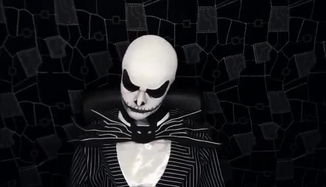 Watch and share Jack Skellington - The Nightmare Before Christmas - Makeup Tutorial! GIFs on Gfycat