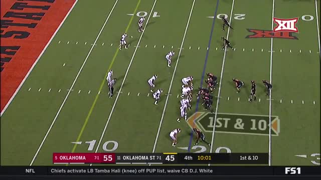 Watch and share 2017 NCAA Football Week 10: Oklahoma At Oklahoma State GIFs by Pistols Firing on Gfycat