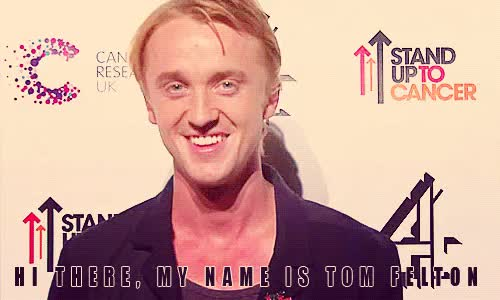 Watch Tom Felton supports Stand Up To Cancer GIF on Gfycat. Discover more <3, gif, stand up to cancer, tom felton GIFs on Gfycat