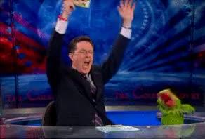 Watch and share Colbert Celebration GIFs on Gfycat