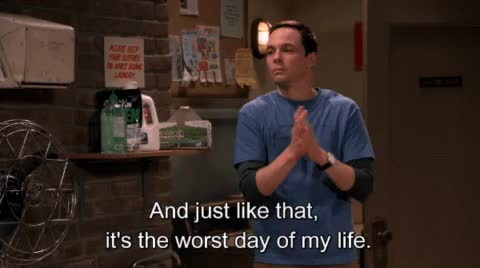 Watch this big bang theory GIF by MikeyMo (@mikeymo) on Gfycat. Discover more big bang theory, jim parsons, sheldon, the big bang theory, worst day GIFs on Gfycat