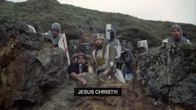 Watch and share Jesus Christ GIFs and Monty Python GIFs by Zook024 on Gfycat
