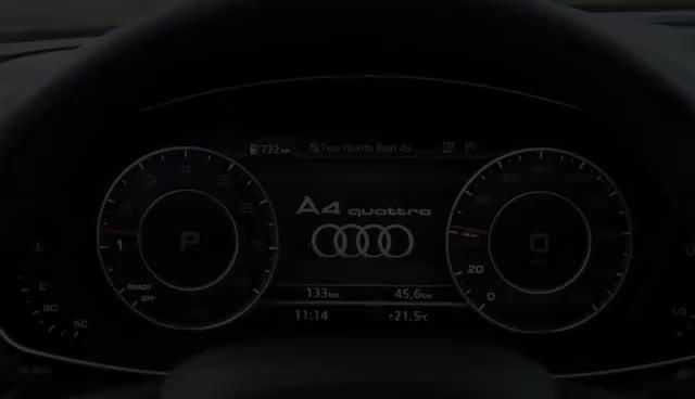 Das Audi virtual cockpit im Audi A4 GIFs