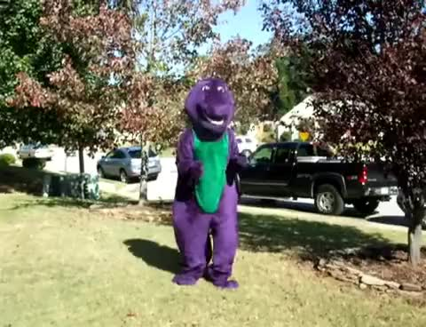 Watch and share Dinosaur GIFs and Barney GIFs on Gfycat