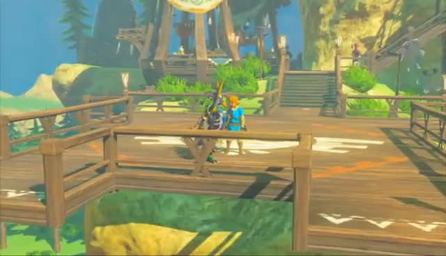 Watch and share The Legend Of Zelda: Breath Of The Wild (Wii U) - 47 - Revali's Flap GIFs on Gfycat
