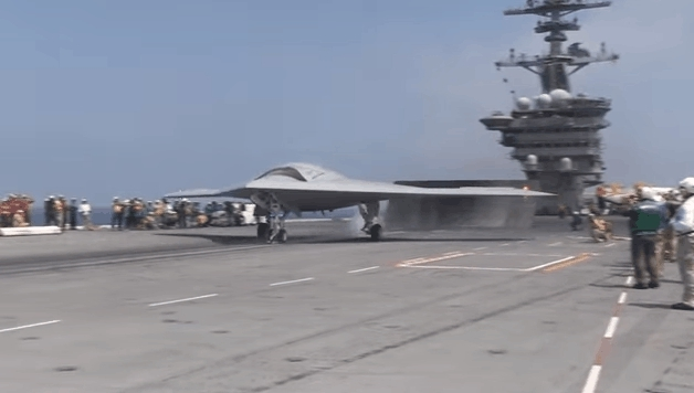 CarrierOps, Landing, acecombat, X-47B Carrier Ops: Take-Off, Landing, and Wings Folding GIFs