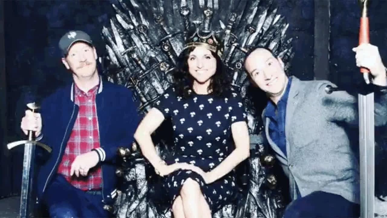veep, poster veep throne GIFs
