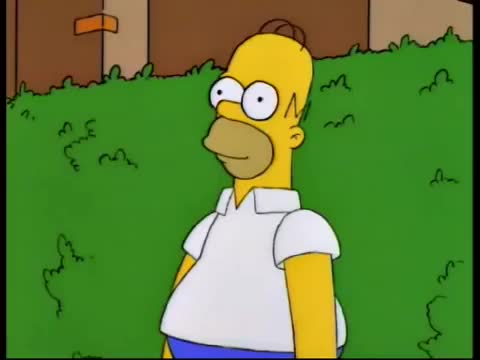 Watch and share Homer Simpson Disappearing Into The Bushes GIFs on Gfycat