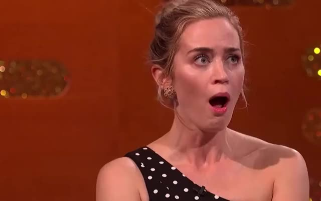 Watch and share Emily Blunt GIFs and Shocked GIFs by GIF Machine on Gfycat