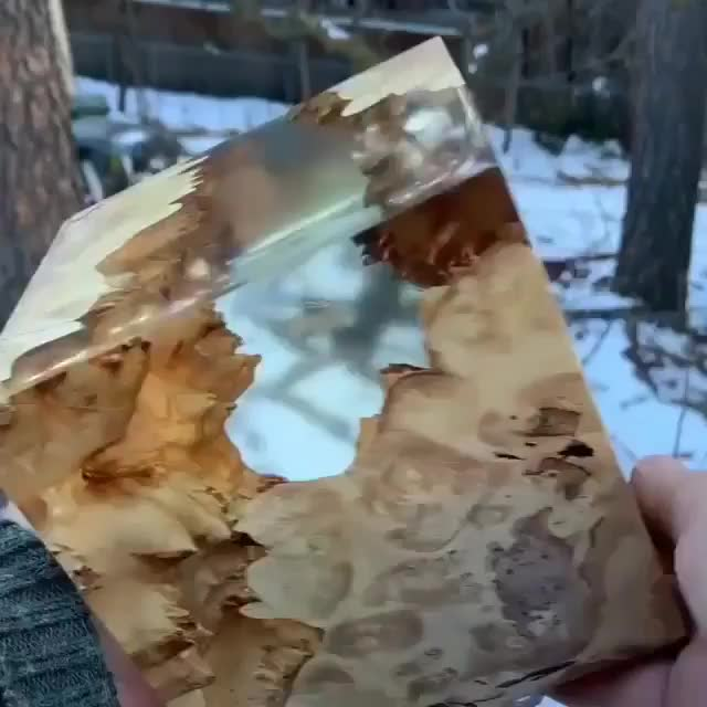 Imperfect burl and resin create a perfect cube GIFs