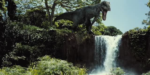 Watch and share World World Cinemagraph,rex,jurassic,waterfall,world,indominus (reddit) GIFs by oduska on Gfycat
