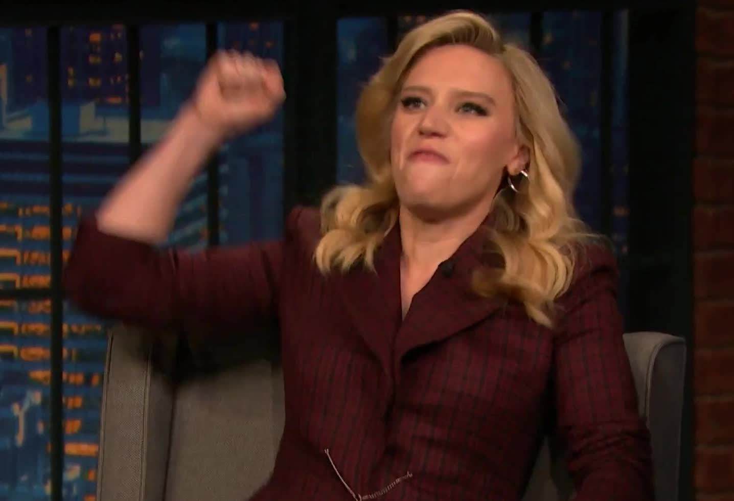 amazing, awesome, best, celebrate, cheer, debate, democratic, do, excited, fight, impersonate, it, kate, marianne, mckinnon, seth, williamson, wow, yes, Kate McKinnon is Marianne Williamson GIFs