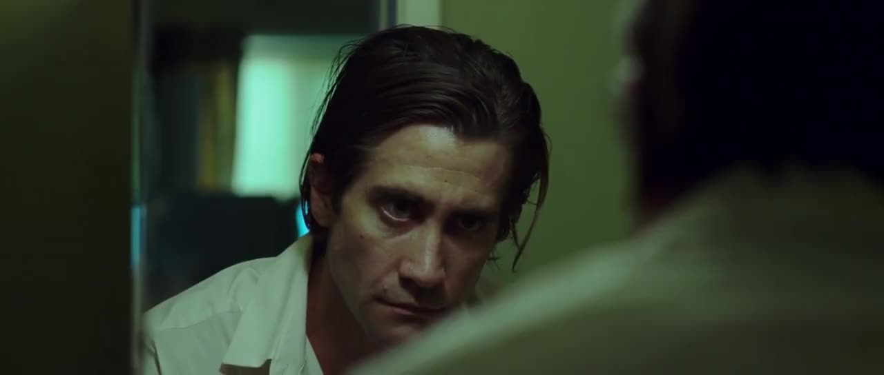 jake gyllenhaal, movies, nightcrawler, scream, Nightcrawler - Scream In a Mirror GIFs