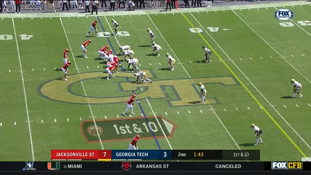 Watch and share NCAAF 2017 Week 2 Jacksonville State At Georgia Tech GIFs on Gfycat