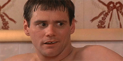 blinking, confused, dumb, dumb and dumber, jim carrey, stupid, Jim Carrey Blinking GIFs