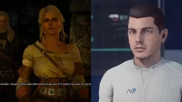 Watch and share Masseffect GIFs and Thewitcher GIFs by kittycatdance on Gfycat