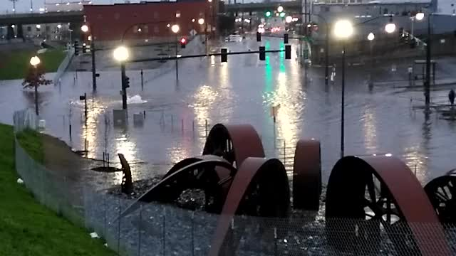 Watch and share Rainstorm Flooding The Kraken In Tacoma GIFs on Gfycat