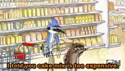 Watch cam. GIF on Gfycat. Discover more 2012, Cake, Cake Mix, Mordecai, Regular Show, Rigby, funny, gif, lol, show GIFs on Gfycat