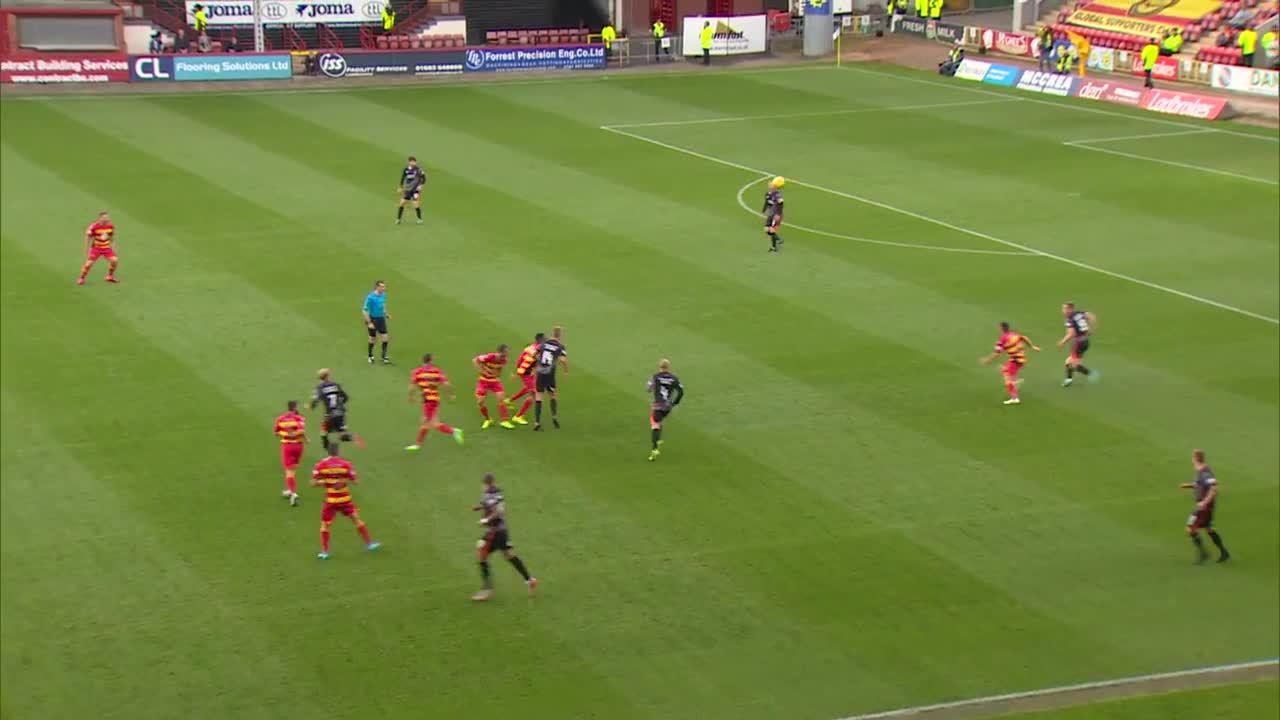 scottishfootball, Kris Doolan scores for Partick Thistle v Kilmarnock while Kingsley celebrates (reddit) GIFs