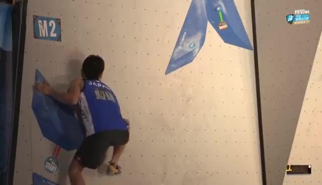IFSC Climbing World Cup Meiringen 2017 - Bouldering - Finals - Men/Women GIFs