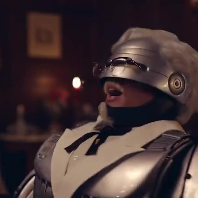 Watch this advert GIF by KFC (@kfc) on Gfycat. Discover more evil laugh, haha, kentucky fried chicken, kfc, laugh, laughing, robocop, secret recipe GIFs on Gfycat
