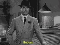 Watch and share Cary Grant, Get Out GIFs on Gfycat