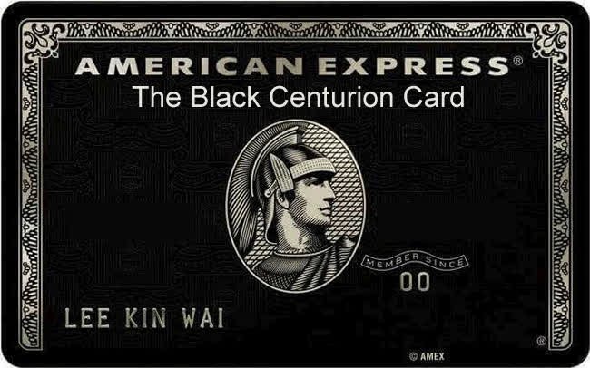 The Black Centurion Card From American Express Invitation Only Gif