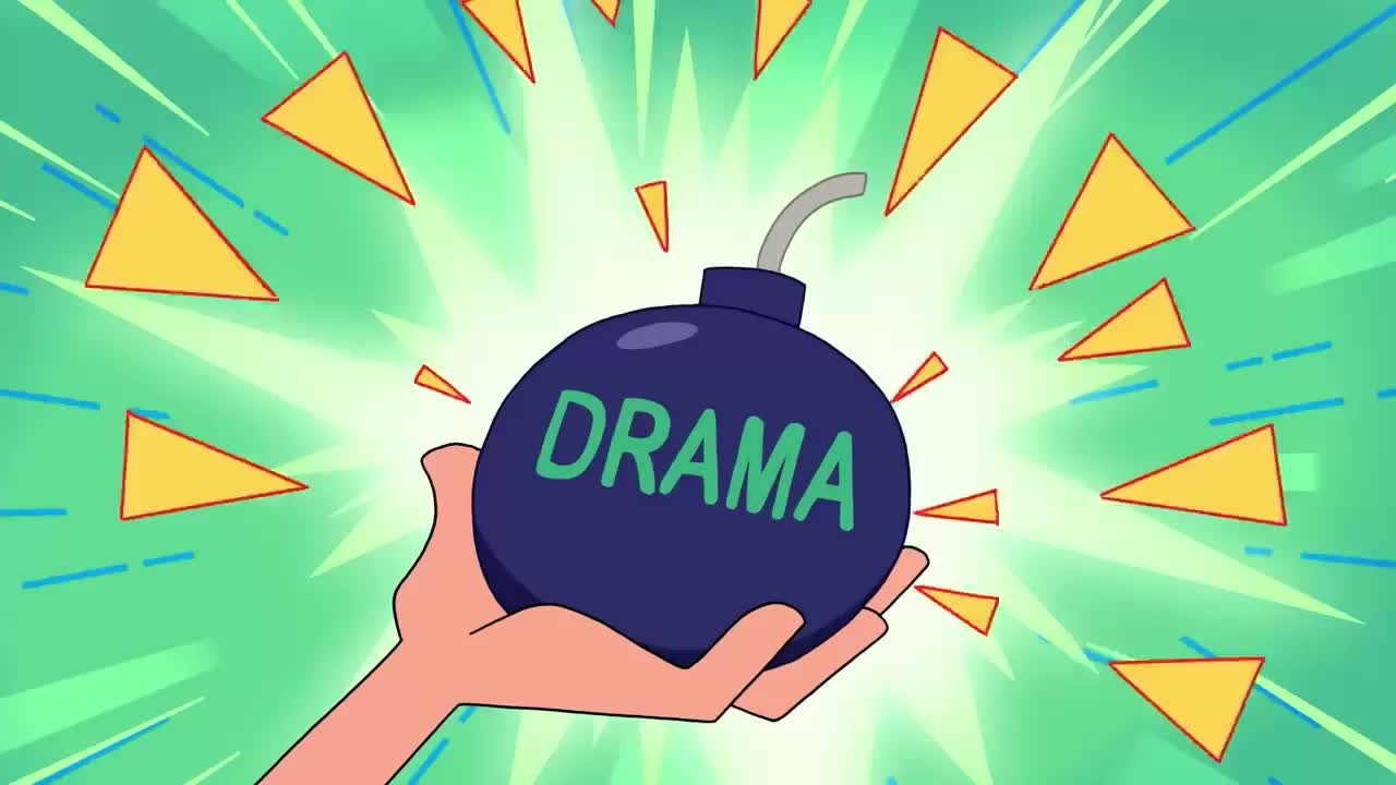 bomb, cartoon, drama, drama queen, dramatic, emotional, exaggerated, explode, fabulous, girls, it, melodramatic, network, overdoing, overreact, powerpuff, queen, react, sad, throw, Powerpuff Girls - Drama bomb GIFs