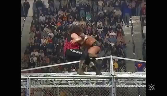 Watch and share Hell In A Cell GIFs and Mick Foley GIFs on Gfycat