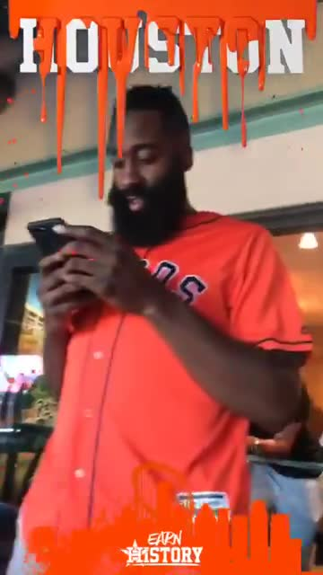 astros, harden, houston, James Harden roots for the Astros GIFs