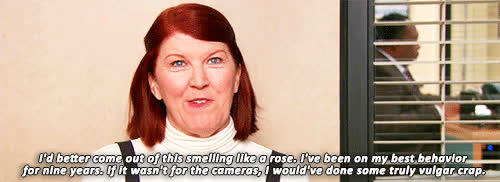 kate flannery, The office Creed GIFs