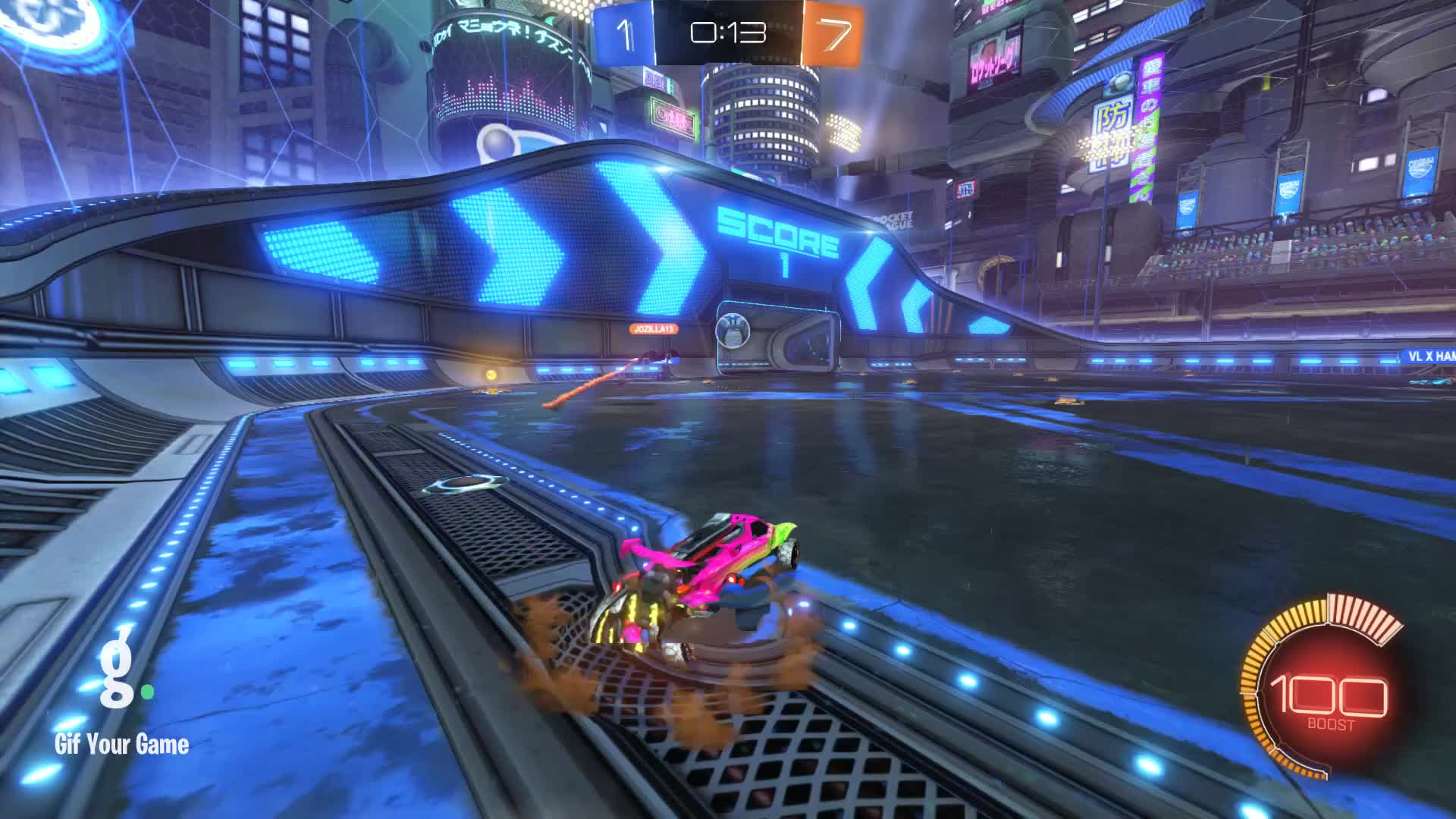 Gif Your Game, GifYourGame, Goal, Rocket League, RocketLeague, TheRealPancakeHero, Goal 9: TheRealPancakeHero GIFs
