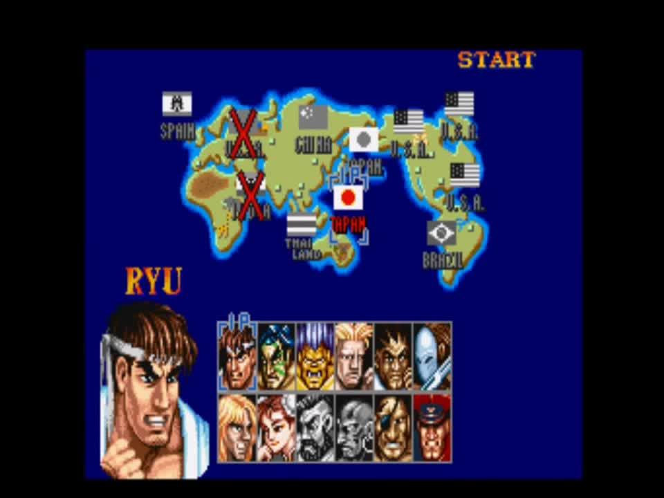 Street Fighter 2 Travel Japan