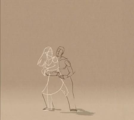 Watch this i love you GIF by sannahparker on Gfycat. Discover more animation, couple, dancing, embrace, i love you, love, sketch GIFs on Gfycat