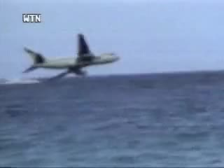 Watch and share Avion Cae A El Agua GIFs on Gfycat