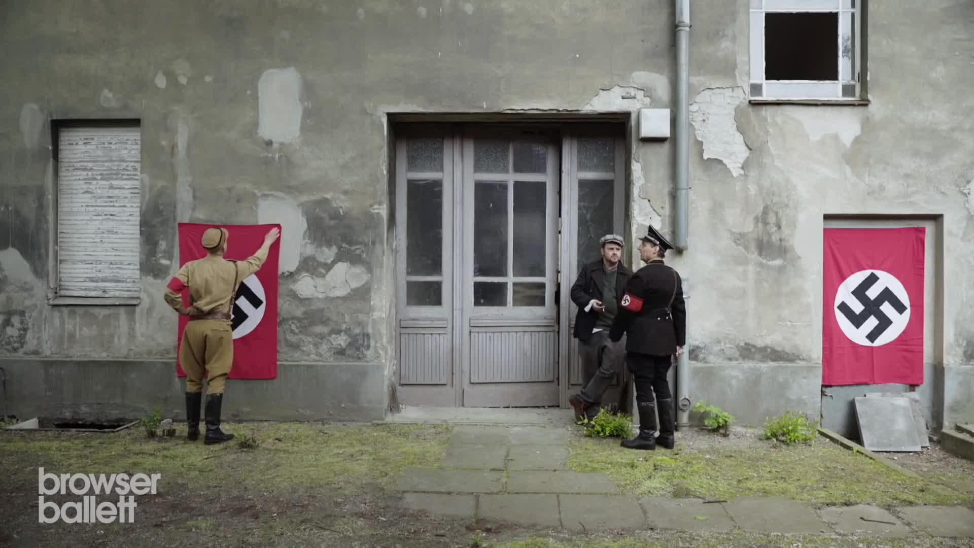 bohemian browser ballett, christian brandes, comedy, cool, german, interesting, nazis, satire, Nazikeule im Dritten Reich (Short) GIFs