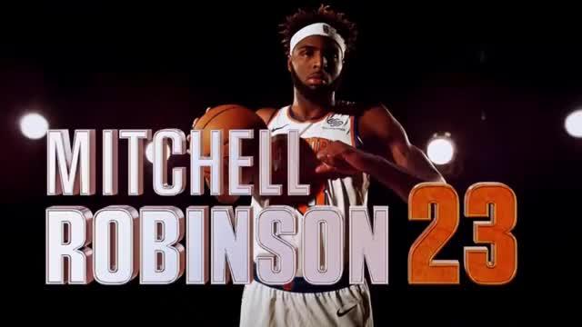 Watch and share Mitchell Robinson GIFs and New York Knicks GIFs by DaveNotti on Gfycat