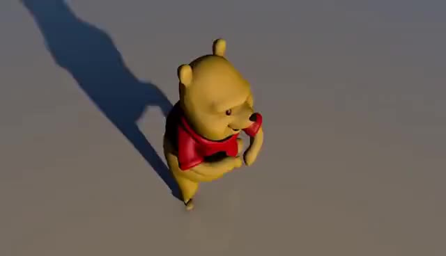 Watch and share GANGNAM STYLE REMIX / Winnie The Pooh 3D DANCE GIFs on Gfycat