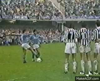 Watch and share Maradona Napoli-Juventus GIFs on Gfycat