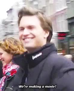 Watch Ansel Elgort GIF on Gfycat. Discover more **, 1k, 2013, amsterdam, ansel elgort, fishingboatproceeds, gifs, his face tho, tfios, tfios set GIFs on Gfycat