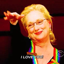 Watch and share Meryl Streep GIFs and I Love You GIFs on Gfycat