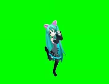 Watch and share Hatsune Miku Dance In Green Screen  Really Nice Dance Movement GIFs on Gfycat